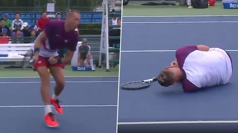 Lukasz Kubot Gets 'Hit in the N*ts' During Shanghai Masters 2019 Match, Watch Video of Tennis Player Falling on The Court