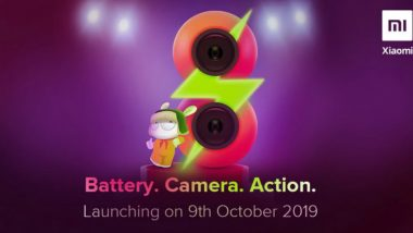 Xiaomi Redmi 8 Smartphone To Be Launched in India on October 9; Specifications Leaked on Google Play Console
