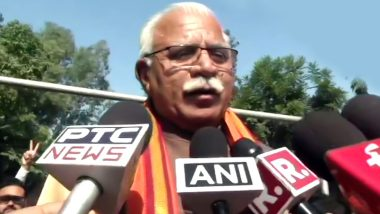 Manohar Lal Khattar to Take Oath as Haryana Chief Minister Tomorrow; State Likely To Have Two Deputy CMs