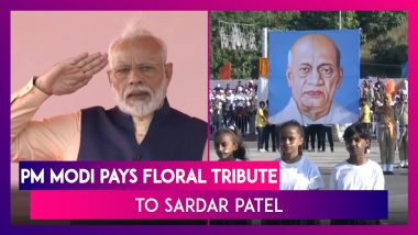 PM Narendra Modi Pays Floral Tribute To Sardar Vallabhbhai Patel At Statue Of Unity