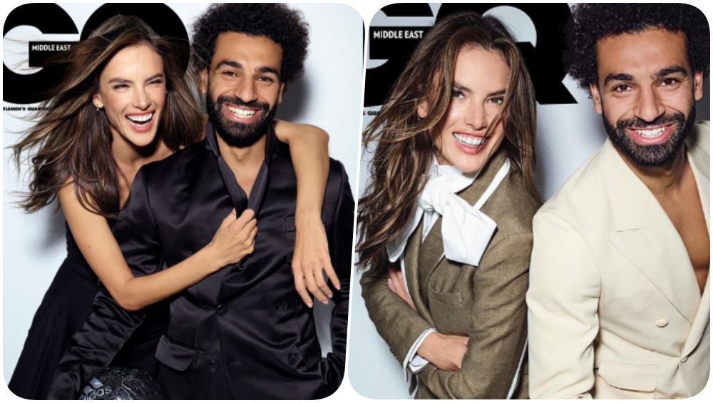 Mohamed Salah Poses With Alessandra Ambrosio for GQ Middle East; Netizens Call for Equality Between Men & Women