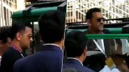 MS Dhoni's Fans Chant His Name As Former Indian Skipper Visits Ranchi Stadium During IND vs SA 3rd Test in Brand New Car Jonga (Watch Video)