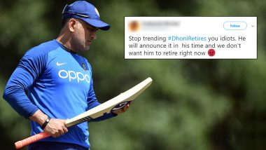 'Dhoni Retires' Hashtag Trends on Twitter, MS Dhoni Fans Share Funny Memes to Shut Down Former Indian Skipper's Retirement Rumours!