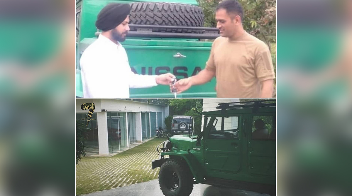 MS Dhoni Buys Indian Army's Used Car Nissan Jonga, Drives Vintage Vehicle on Ranchi Streets (See Pic)