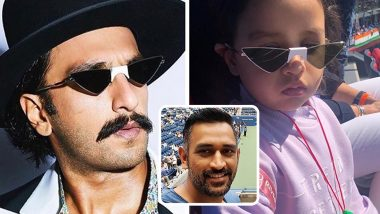 MS Dhoni Reveals Daughter Ziva and Actor Ranveer Singh Share Same Fashion Sense; Veteran Wicket-Keeper Posts Heart-Warming Story on Instagram