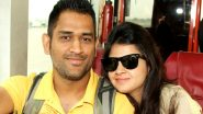 MS Dhoni Retires: Wife Sakshi Dhoni Welcomes Red Dodge Challenger Car Home, Says' Missing You Mahi' (Watch Video)