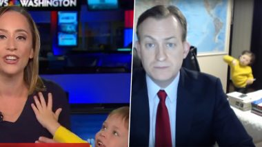 MSNBC Correspondent's Son Interrupts Live Reporting on Camera, Reminds Netizens of 'BBC Dad'; Check Out Funny Reactions to The Cute Video!