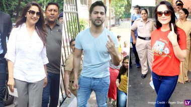 Maharashtra Assembly Polls 2019: Madhuri Dixit, Varun Dhawan and Preity Zinta Cast Their Vote (View Pics)