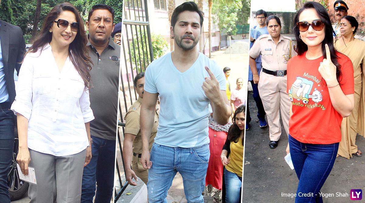Maharashtra Assembly Polls 2019: Madhuri Dixit, Varun Dhawan and Preity Zinta Cast Their Vote (View Pics)