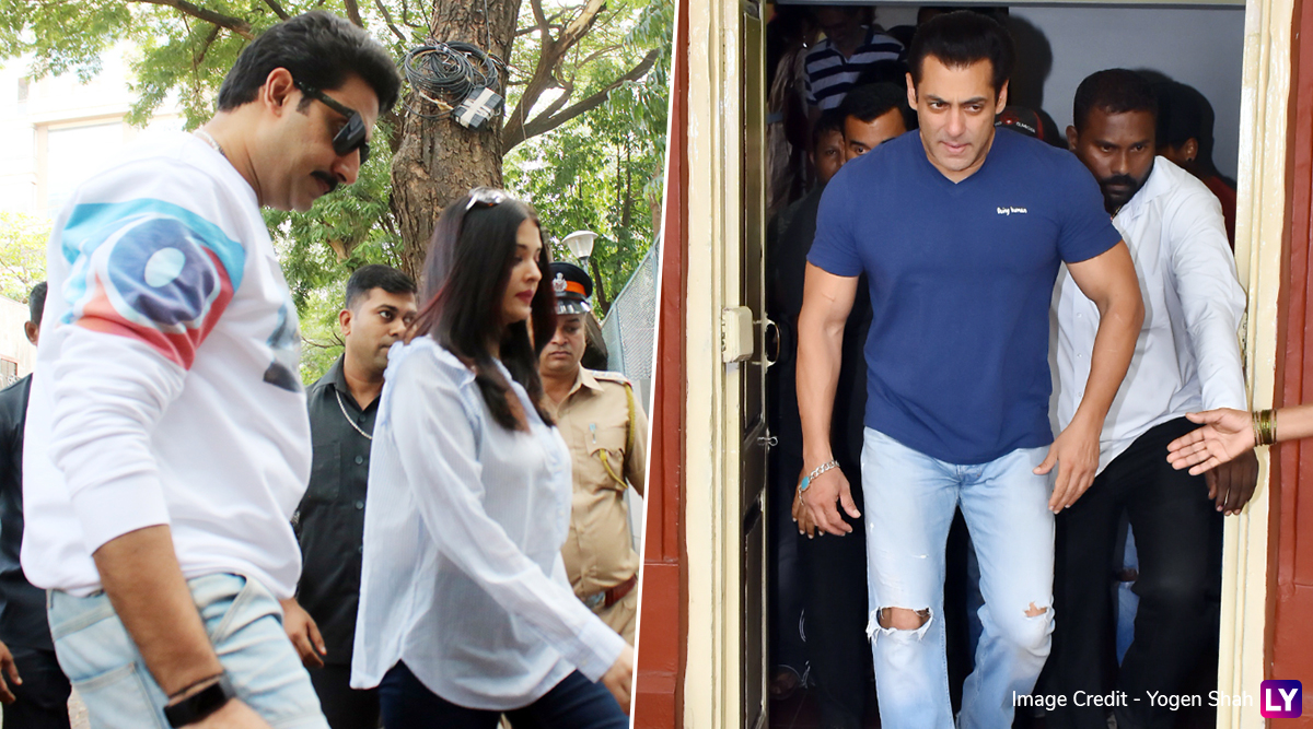 Maharashtra Assembly Elections 2019: Salman Khan, Aishwarya Rai, Abhishek Bachchan Cast Their Vote in Mumbai (View Pics and Videos)