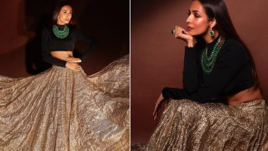 Malaika Arora Teaches How To Make Black a Part Of Your Vibrant Diwali Fashion Wardrobe! (View Pics)