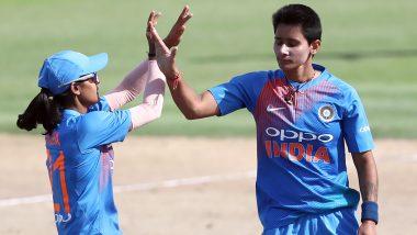 Mansi Joshi Takes a Stunning Catch Off Ekta Bisht's Delivery to Dismiss Nondumiso Shangase During IND vs SA Women 3rd ODI (Watch Video)