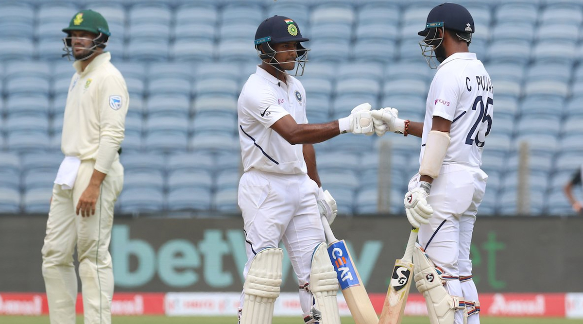 Live Cricket Streaming of India vs South Africa 2nd Test 2019 Day 2 on DD Sports, Hotstar and Star Sports: Watch Free Telecast and Live Score of IND vs SA Match on TV and Online