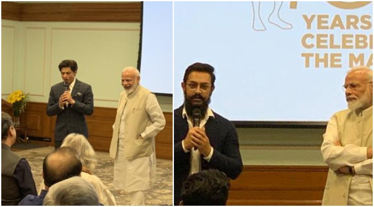 PM Narendra Modi Interacts With Aamir Khan, Shah Rukh Khan at an Event Celebrating 150 Years of Mahatma Gandhi
