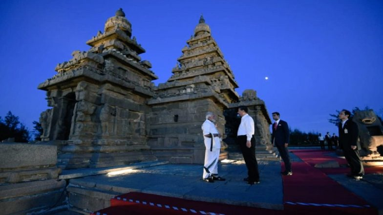 Narendra Modi-Xi Jinping Summit in Malappuram: Pallava Architecture, Cultural Event at Shore Temple Sum Up Day 1 of Informal Meet