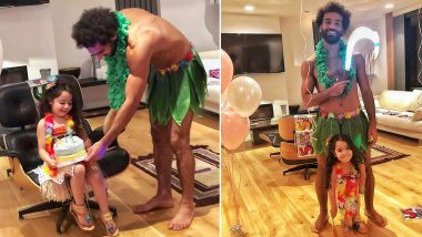 Mo Salah and His Daughter Makka Dress Up as Moana and Maui For Latter's Birthday, View Cute Pics Shared by Liverpool Football Star!