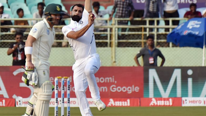 Mohammed Shami On Hat-Trick, Gets Rid of Mushfiqur Rahim and Mehidy Hasan During India vs Bangladesh 1st Test 2019