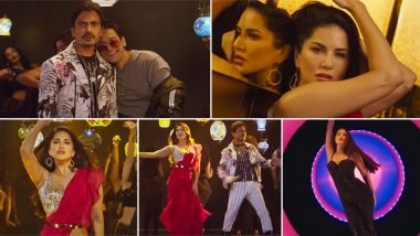 Motichoor Chaknachoor Song Battiyan Bujhaado: Sunny Leone Burns the Dance Floor with Her Sexy Moves While Nawazuddin Siddiqui Tries Hard to Match the Steps (Watch Video)