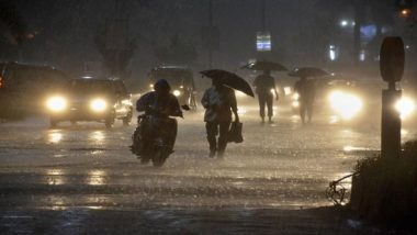Mumbai Rains: IMD Predicts Thunderstorm & Lighting Accompanied by Wind and Intense Rains in Palghar And Thane
