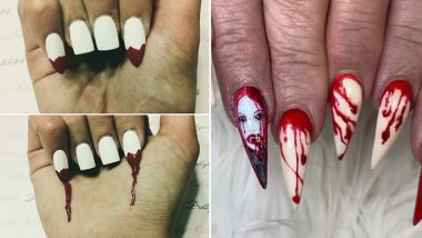 Sexy Vampire Fangs Is The Spookiest Nail Art Trend That YOU HAVE TO TRY This Halloween! (View Pics)