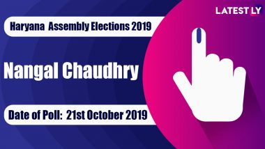 Nangal Chaudhry Vidhan Sabha Constituency Election Result 2019 in Haryana: Dr Abhe Singh Yadav of BJP Wins MLA Seat in Assembly Polls