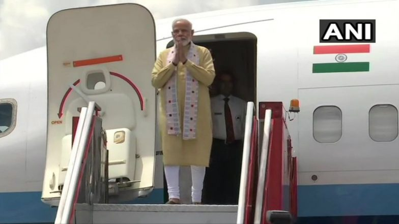 PM Narendra Modi Arrives in Chennai to Attend Second Indo-China Informal Summit WIth Xi Jinping