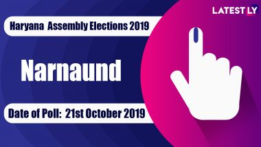 Narnaund Vidhan Sabha Constituency in Haryana: Sitting MLA, Candidates For Assembly Elections 2019, Results And Winners