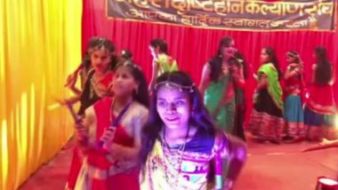 Navratri 2019: Visually Challenged Girls Perform Garba on Durgashtami in Indore (Watch Video)
