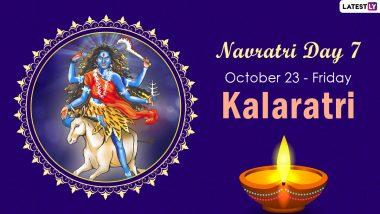Navratri 2020 Kalaratri Puja: Colour & Goddess of Day 7 to Worship the 7th Avatar of Maa Durga