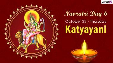 Navratri 2020 Katyayani Puja: Know The Colour and Goddess of Day 6 to Worship The Sixth Avatar of Maa Durga This Sharad Navaratri