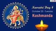 Navratri 2020 Kushmanda Puja: Know The Colour and Goddess of Day 4 to Worship The Fourth Avatar of Maa Durga This Sharad Navaratri