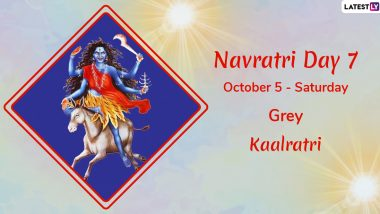 Navratri 2019 Day 7 Colour and Goddess: Worship Devi Kalaratri, the Seventh Avatar of Maa Durga This Sharad Navaratri