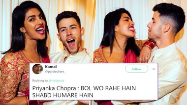 Nick Jonas' Tweet for Priyanka Chopra on Karwa Chauth Makes Twitter Question If PeeCee Wrote the Tweet for Him!