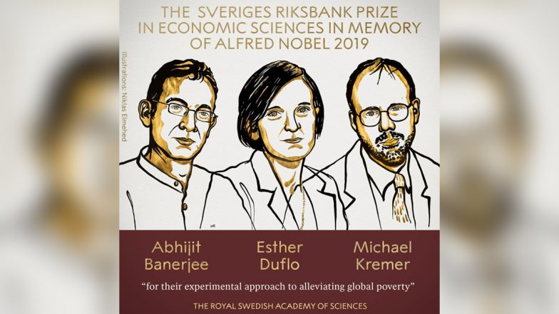 Nobel Prize in Economic Sciences 2019 Jointly Awarded to Abhijit Banerjee, Esther Duflo and Michael Kremer For Work on Poverty