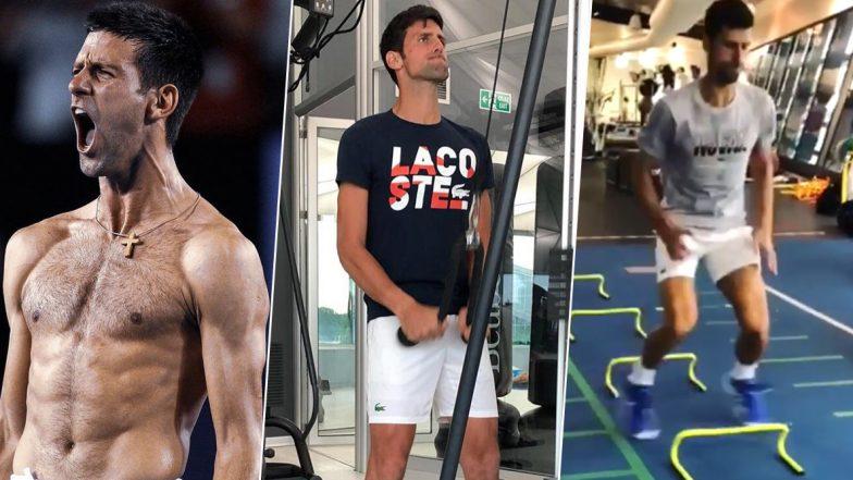 Novak Djokovic Gluten Free Diet & Workout: Explore Fitness Regime of Serbian Tennis Star That Makes Him The Best (Watch Videos)