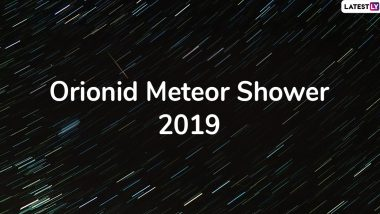 Orionids Meteor Shower 2019 Live Streaming: Watch The Spectacular Meteor Shower of Halley's Comet Debris Peaking Right Now