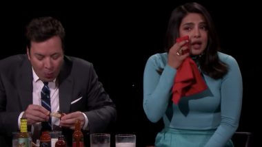 Priyanka Chopra Left in Tears as She Takes the 'Hot Ones' Challenge of Eating Insanely Spicy Chicken Wings With Jimmy Fallon (Watch Video)