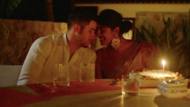 Nick Jonas Sends Diwali Wishes to Fans With an Adorable Picture With Wifey Priyanka Chopra from Their Candle-Light Dinner (See Pic)