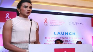 PV Sindhu Joins Breast Cancer Awareness Effort Using Augmented Reality Technology
