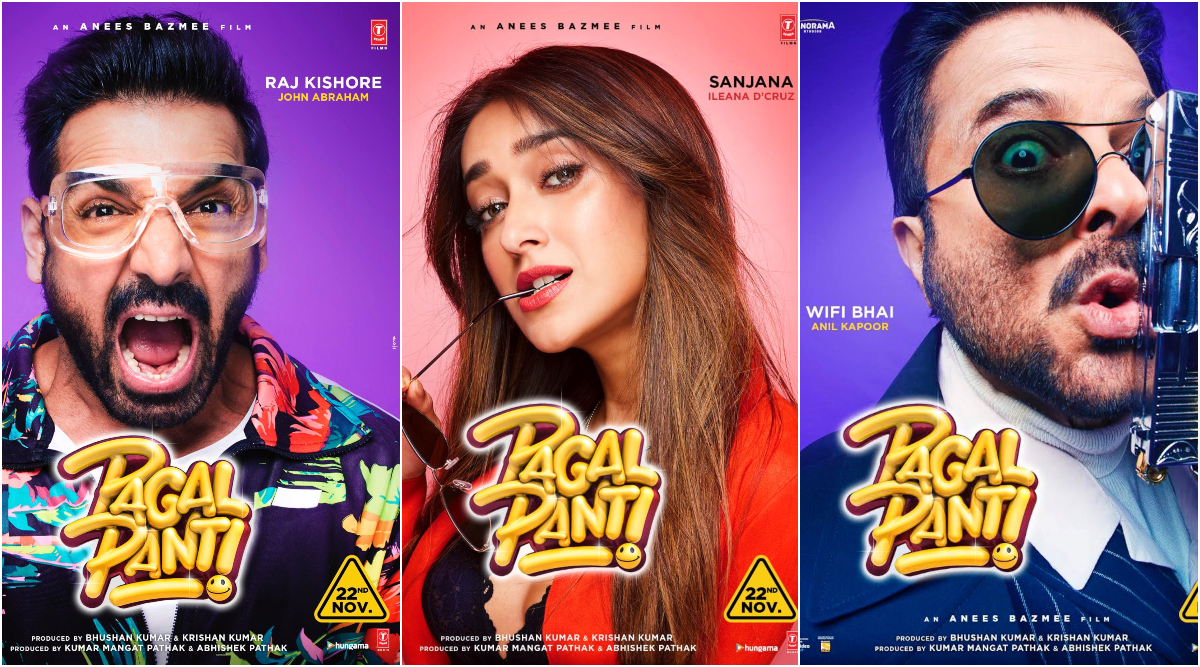 Pagalpanti Posters: Meet John Abraham, Anil Kapoor and Ileana D'Cruz's Quirky Characters in Their Colourful Avatars (View Pics)