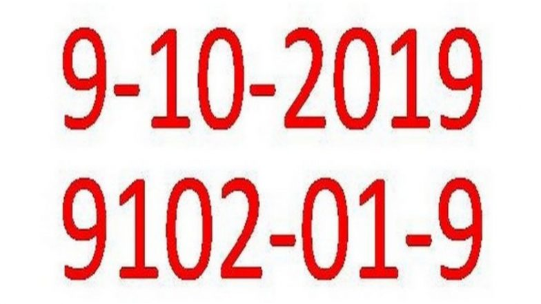 Palindrome Day 2019 Date: Right to Left and Left to Right - October 9 Is Palindrome Day This Year!