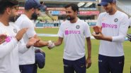 Shahbaz Nadeem Receives Maiden Test Cap from Virat Kohli Ahead of IND vs SA, 3rd Test 2019