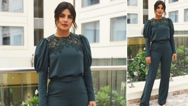 Yo or Hell No? Priyanka Chopra in Custom Made Lela Rose During Her 'The Sky Is Pink' Promotions