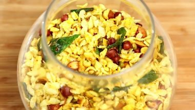 Poha Chivda Recipe For Diwali 2019: Easy Namkeen Dish For Deepavali That's Easy to Make At Home and Very Yummy (Watch Video)