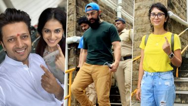 Maharashtra Assembly Polls 2019: Aamir Khan, Kiran Rao, Riteish and Genelia Deshmukh Are the Early Birds to Vote (View Pics)