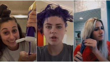Purple Shampoo Challenge Goes Viral on TikTok, Watch Videos of Girls Emptying Shampoo Bottles on Their Hair For Latest Beauty Trend