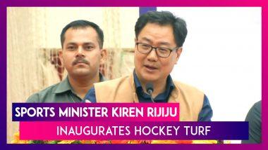 Tamil Nadu: Sports Minister Kiren Rijiju Inaugurates Hockey Turf In Chennai