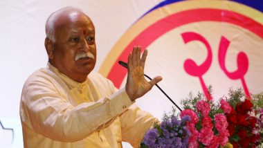 Mohan Bhagwat Says Muslims in India Are The Happiest Thanks to Hindus, Adds Hindu Culture Accepts All - Watch Video