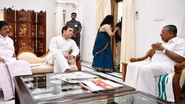 Rahul Gandhi Writes Letter to Kerala CM Pinarayi Vijayan, Asks Him to Ensure Financial Assistance For Flood Victims