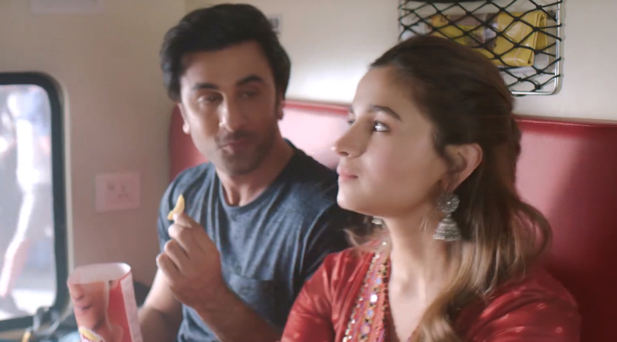 Image result for latest images of ranbir kapoor and alia bhatt lays add